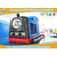 Buy cheap Train Shape Inflatable Bouncy Castle Printing Art Panel For Business Hire from wholesalers