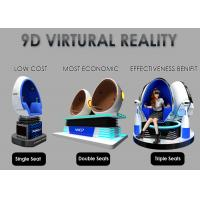Buy cheap Fashion Investment 9D VR Cinema 1 / 2 / 3 Seats Color Customized For Adult product