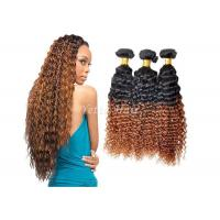 Buy cheap Highlighted Deep Curly Remy Ombre Hair Extensions For Black Women from wholesalers