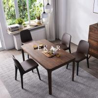 Buy cheap European Simple Furniture 6 Chairs Set Rectangular Dining Table Solid Wood from wholesalers