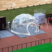 Buy cheap Dia 14m Transparent PVC Cover Steel Frame Geodesic Dome Tent from wholesalers