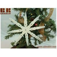 Buy cheap Christmas Snowflake Ornament, Repurposed Wood Snowflake, Chalk Paint Glittering Snow Flake Ornie from wholesalers