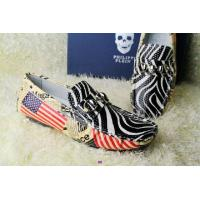 Buy cheap 2014new American flag shoes McQueen skulls mixed color leather casual mens fashion shoes from wholesalers