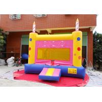 Buy cheap Indoor / Outdoor Inflatable Castles , Happy Birthday Cake Inflatable House For Party from wholesalers