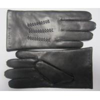 Buy cheap Hot sale men soft sheepskin silk lining leather gloves from wholesalers
