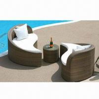 Buy cheap Wicker/cane sofa/rattan/leisure furniture, made of aluminum tube frame and PE rattan from wholesalers