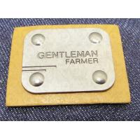 China Manufacturer custom metal jeans pu label and printing leather patch label clothing label tag for jeans on sale