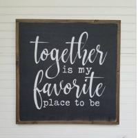 Buy cheap Blackboard Wooden Plank Plaque , Wall Hanging Painted Wooden House Signs from wholesalers
