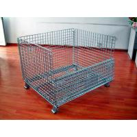 Buy cheap Powder Coated Wire Mesh Pallet Cage For Logistics / Distribution Center from wholesalers