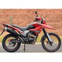 Buy cheap Red Color Dirt Bike Style Motorcycle , High Reliability Small Off Road Motorbike from wholesalers