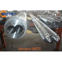 China Parallel Twin Screw Barrel for Bausano Extruder / MD Parallel Twin Screw Barrel for PVC Extrusions on sale