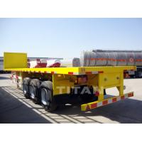 Buy cheap TITAN vehicle -- Container Flat Bed Semi Trailer with front wall from wholesalers
