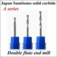 Buy cheap Japan material double flute end mill A series 3.175*32 from wholesalers
