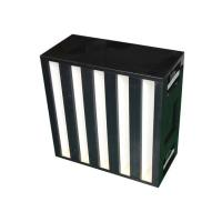 Buy cheap Washable Fiberglass Medium V - bank HEPA filter, media air filter with aluminum sheet frame from wholesalers
