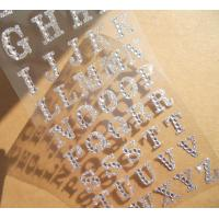 Buy cheap silver glitter sticker Alphabet rhinestone sticker for phone case from wholesalers