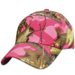 Buy cheap Cotton Unisex Baseball Caps Long Visor Stitching Eyelets Hunting Camp Pink Camo Hat from wholesalers