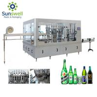 Buy cheap CSD Beer Glass Bottle Machine Washing Filling Sealing 3 In 1 Monoblock Production Line from wholesalers