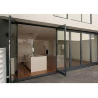 Buy cheap Double Glazing Tempered Glass Door Aluminium Frame , Restaurant Swing Doors Commercial from wholesalers