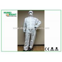 Type 5 / 6 Disposable Coveralls with Hood Splash Proof SMS Chemical Coveralls