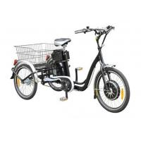 Buy cheap 22  Electric Adult Tricycles Black 3 Wheel Electric Trike With Rear Luggage Carrier from wholesalers