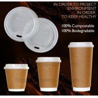 Buy cheap Biodegradable Eco friendly Disposable Cornstarch CPLA Cup,hot sale plastic coffee cup lid manufacturers fit for paper co from wholesalers