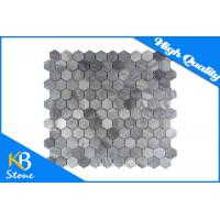 Buy cheap Italy Grey Flooring Hexagon Marble Mosaic Tiles for Backsplash / Shower Wall Building Material from wholesalers