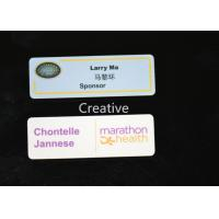 Buy cheap Rectangle Pin Plastic Name Badges / Personallised Magnetic Name Tag product