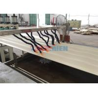 Buy cheap Fireproof PVC Hollow Roof Sheet Making Machine 55kw + 15kw High Production Efficiency from wholesalers