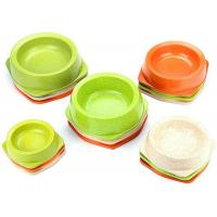 Melamine Colorful Plastic Dog Bowls Bamboo Powder With Anti Slip 170ml Capacity