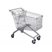 Buy cheap Safety Metal 4 Wheel Supermarket Shopping Trolley  / Grocery Shopping Cart 180L from wholesalers