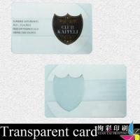 Buy cheap Hot Stamping Transparent PVC Card Printing / Bank Credit Card from wholesalers