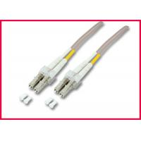 Buy cheap OM3 LC to ST 2 Cores Fiber Optic Patch Cable, Multimode Gray LSZH Optic Cable from wholesalers