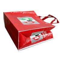 Buy cheap OEM Waterproof PRI Red Woven PP Shopping Bags With White Binding Edge from wholesalers