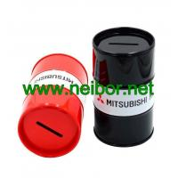 Buy cheap Oil drum shape tin money box coin bank as promotion gifts from Wholesalers