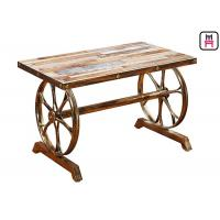 Buy cheap 4ft*2ft Plywood / Cast Iron Table Base Industrial Style Coffee Table With Wheel Design from wholesalers