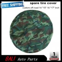 Buy cheap Free shipping Camouflage color Car modified PU spare tire cover custom off-road 14 15 16 17 PVC spare wheel cover from wholesalers