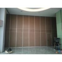 Buy cheap Interior Wooden Design Acoustic Partition Wall Sliding Doors For Auditorium / Banquet Hall from wholesalers