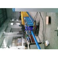 Buy cheap Rectangle Steel Downspout Roll Forming Machine 330mm Feeding Width product