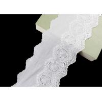 Buy cheap 14CM Width Cotton Lace Trim Edging With Floral Pattern Scalloped Via OEKO TEX product