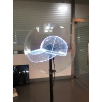 Buy cheap High resolution CE rohs hologram 3d display advertising projector led fan 50cm wifi control from wholesalers
