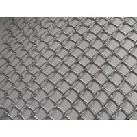 Top quality Colored PVC 4 Inch Chain Link Wire Mesh , Diamond Hole Chain Link Sports Fencing for sale