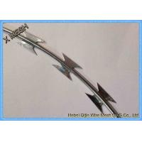 Buy cheap Bto-22 Cross Type Concertina Razor Wire / Barbed Wire Security Fence from wholesalers