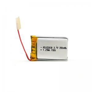 Buy cheap 350mAh 3.7 V Lithium Polymer Battery CV Charge KPL652030 product