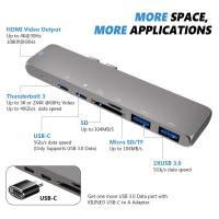 Buy cheap Multi Function 6 in 1 USB 3.0 Mini Adapter Hub Type-C USB3.0 USB-C Adapter Type C Hub from wholesalers