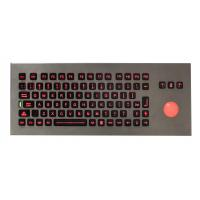 Buy cheap Waterproof  Stand alone movable Industrial Keyboard With Trackball for Army , Navy from wholesalers