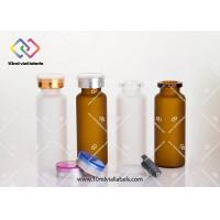 Buy cheap Clear Small Glass Vials With Cork Tops / Small Drift Bottle 20ml - 24x 65mm from wholesalers