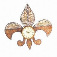 China Metal art clock for home decoration, measures 60x4x57.7cm on sale
