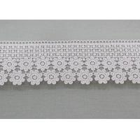 Buy cheap Water Soluble Daisy Venice Guipure Lace Trim , Embellishment Wedding Lace Border from wholesalers
