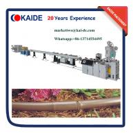 Buy cheap 2 Layers Brown Color Round Drip Irrigation Pipe Machine from wholesalers
