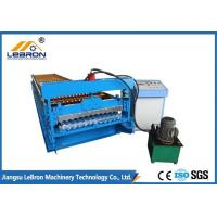 Buy cheap Hydraulic Cut Corrugated Sheet Roll Forming Machine , Sheet Metal Corrugating Machine 8-12m/min from wholesalers